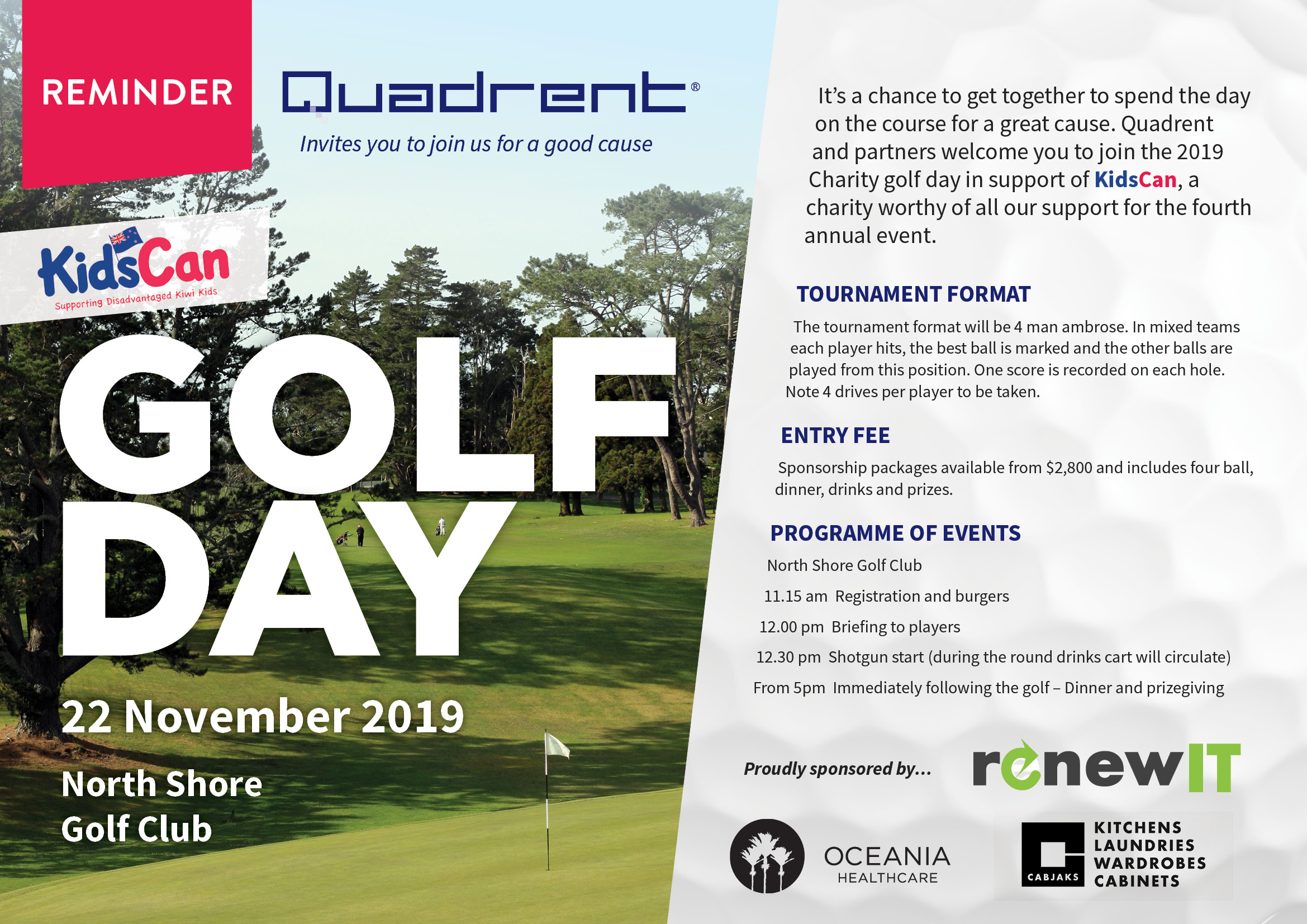 Golf day reminder 2019