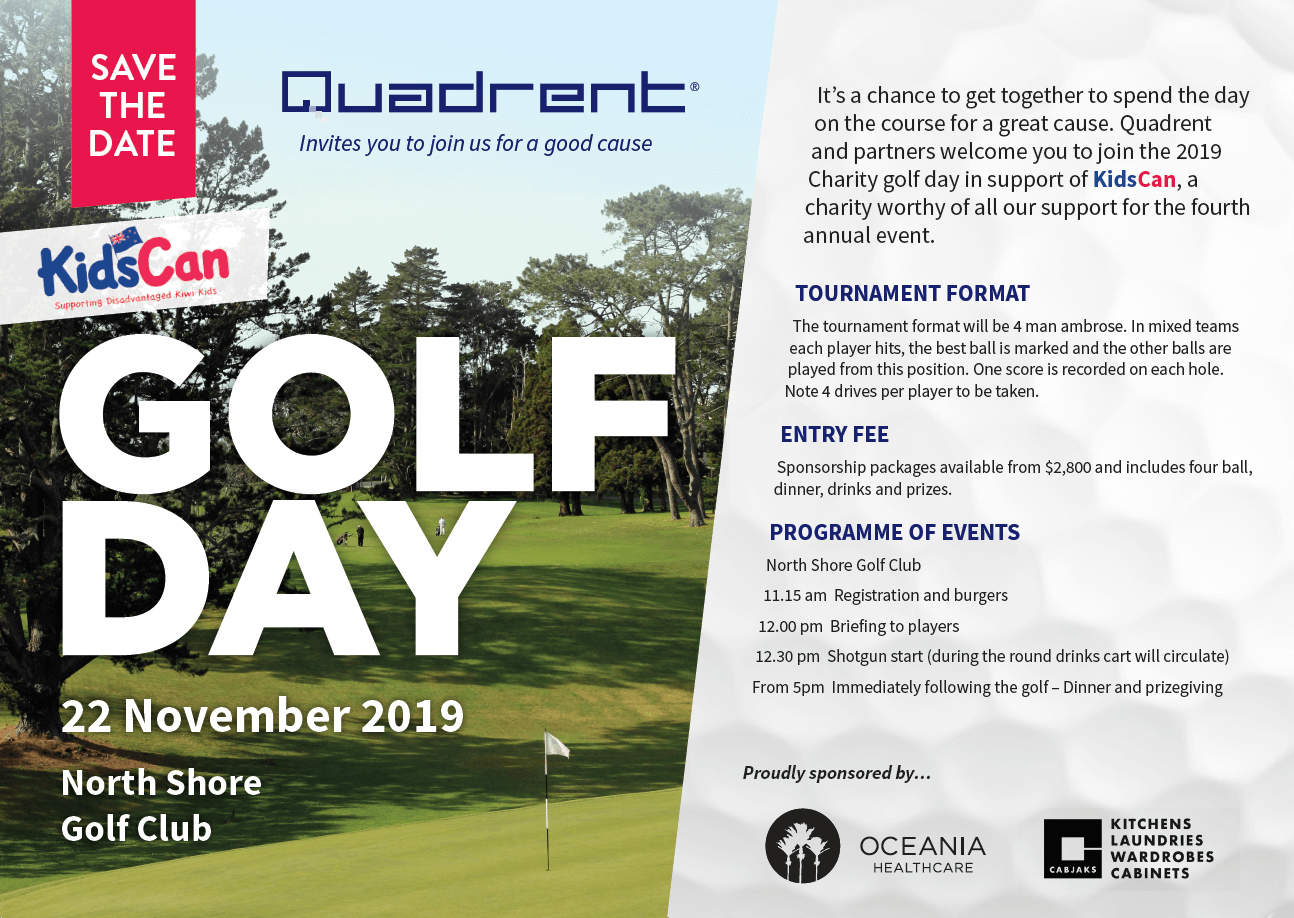 Golf Day 22 Nov 19 - Information Flyer. North Shore Golf Club, 11.15am - 5pm dinner start