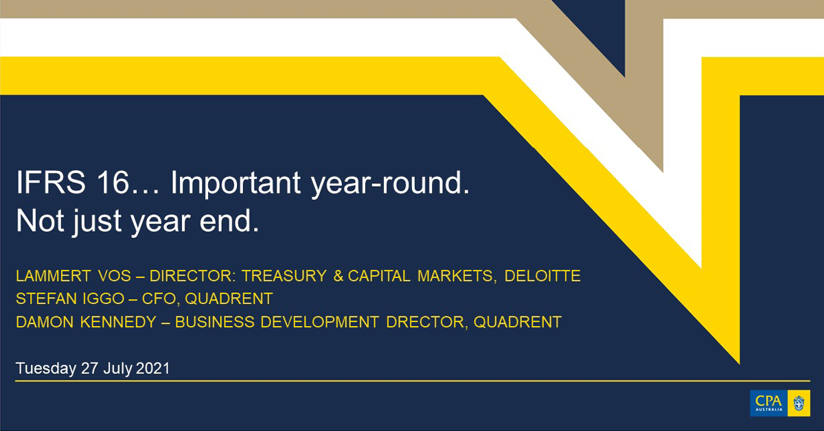 IFRS 16... important year-round not just year end webinar Q +A
