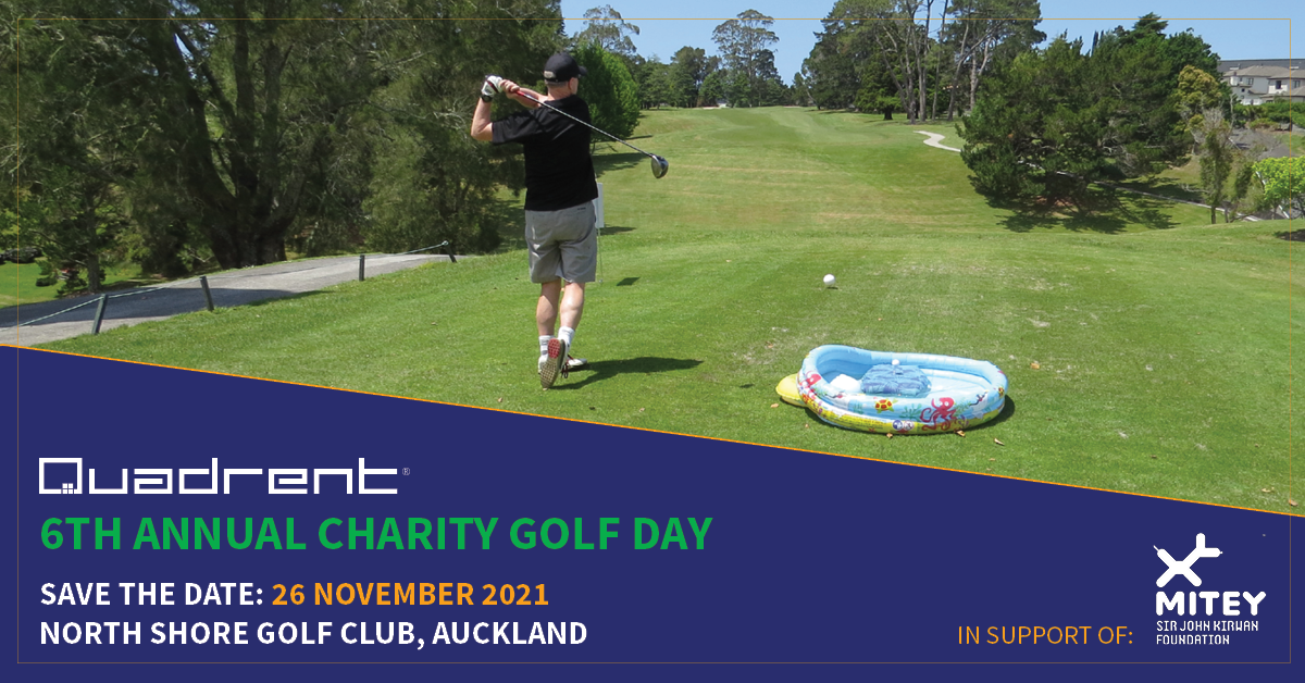 Save the Date for the 2021 Quadrent Charity Golf Day