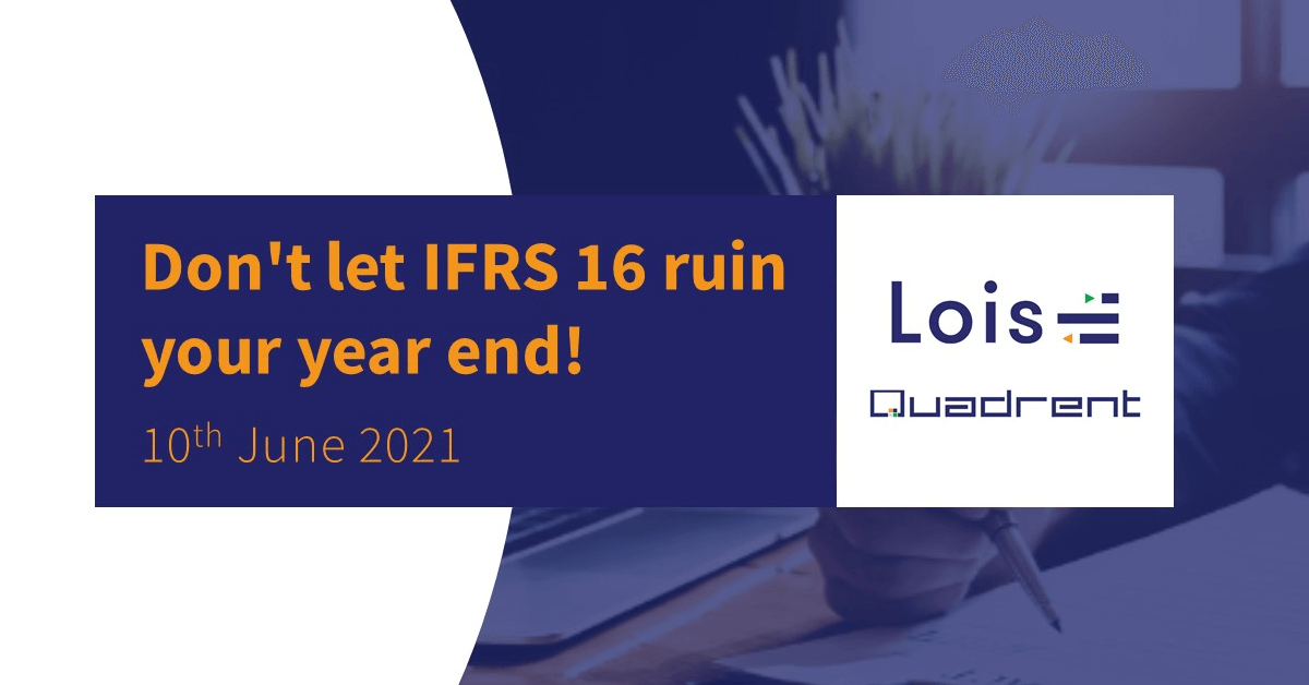 On demand video - Don't let IFRS 16 ruin your year end!