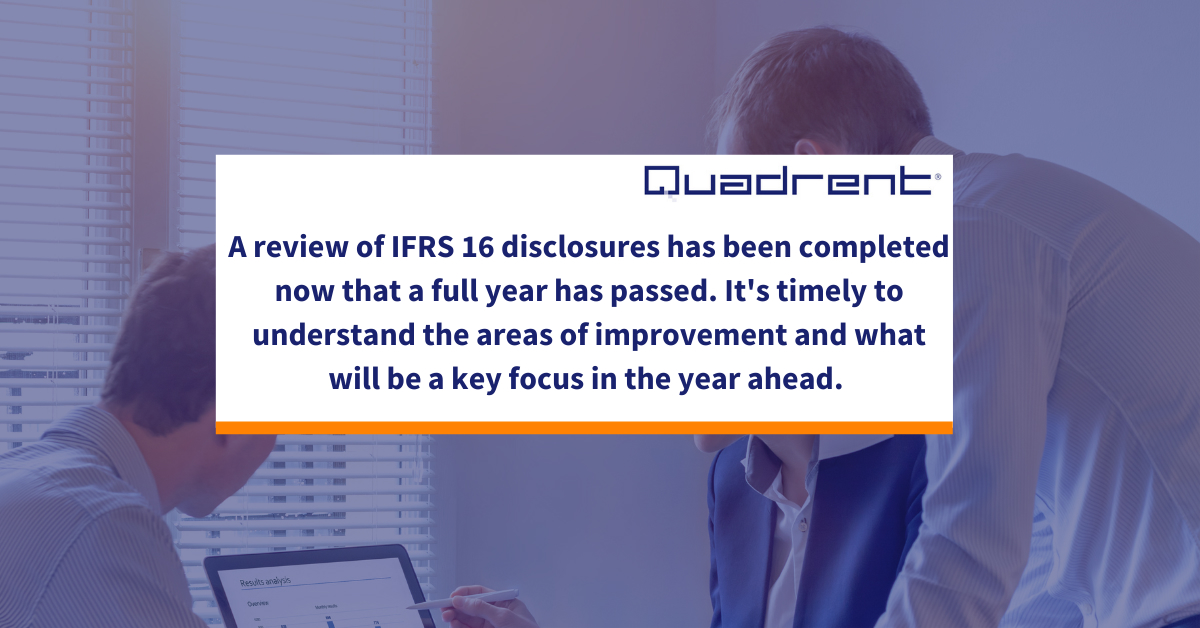 Reflections from the first full year of IFRS 16 - some significant areas for improvement.