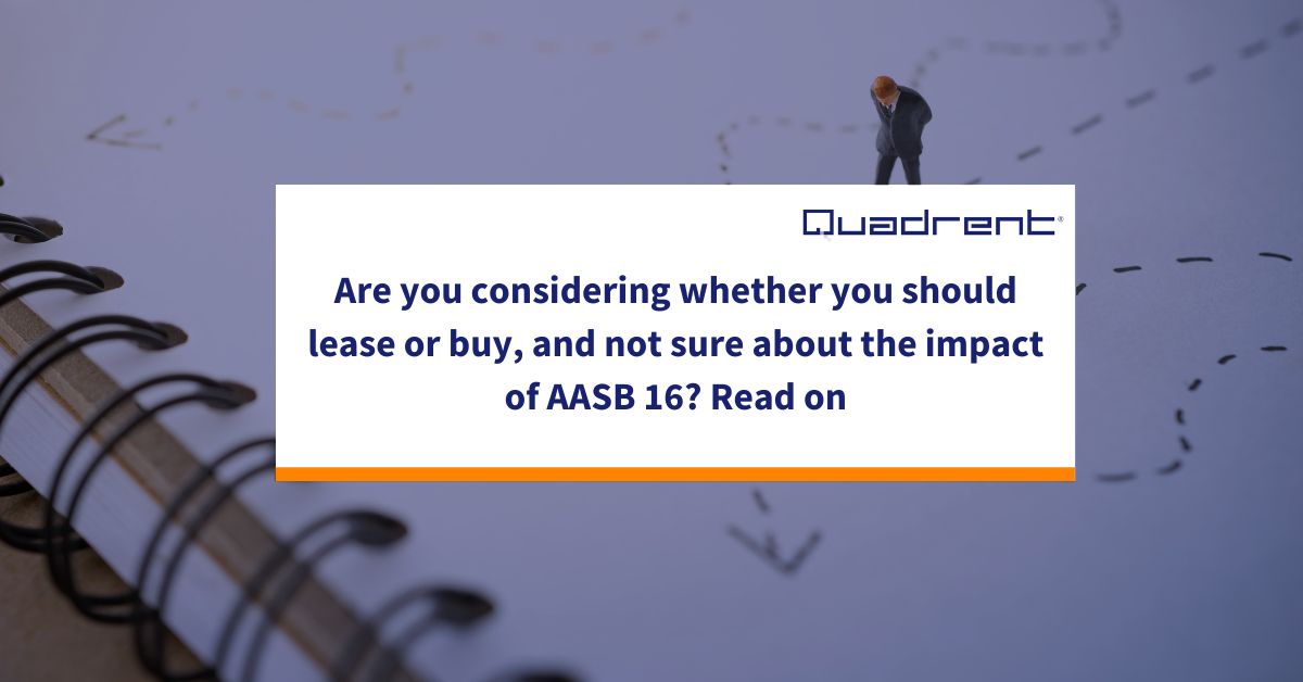 Should you still consider leasing under IFRS 16 / AASB16?