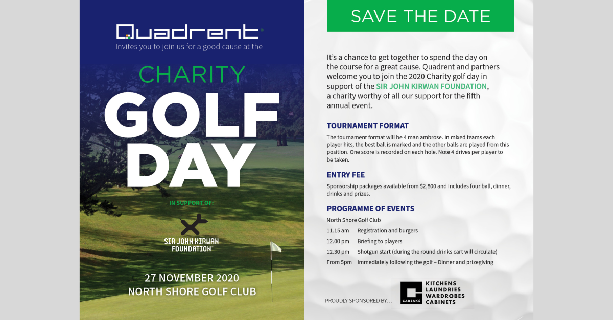 Quadrent charity golf day - Sky and Land Rover as proud sponsors