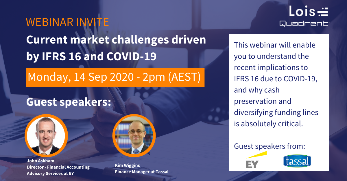 Webinar invite - Current market challenges driven by IFRS 16 and COVID 19